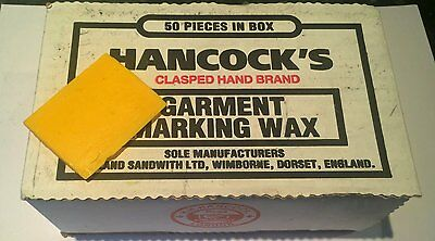 2 x Piece NEW & Unused Hancocks Tailoring Tailors ChalkWax in various Colours