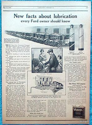 1919 Veedol Oil New York Telephone Co Ford Trucks Lubrication New Facts ad