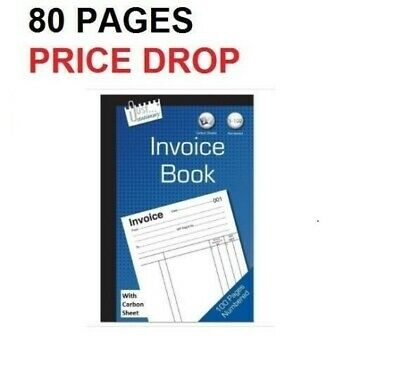 Full Size Duplicate Receipt Book Carbon sheet Numbered Cash 1 - 100 Pages Pad