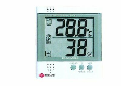 Thomas Workstation Traceable Radio-Signal Remote Humidity Meter/Thermometer, -4