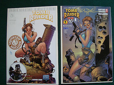 Tomb Raider Preview #1 Variant Signed and Numered Set - 86/120 - 90/160 - NM