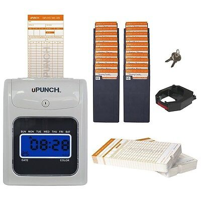 uPunch HN3500 Electronic Time Clock Bundle, Free Shipping, New