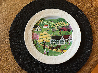Royal Staffordshire England Plate with a Pastoral Scene Decorative HTF