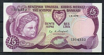 CYPRUS Europe 5 Pounds UNC 1979 p-47