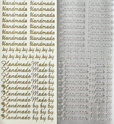 HANDMADE BY LETTERING PEEL OFF STICKERS Cardmaking Scrapbooking Crafts