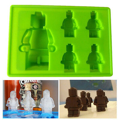 Silicone Baking Molds Making Ice Jelly Candy Brownie Chocolate Soap Robot Molds