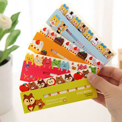120Pages Cute Animal Sticker Bookmark Marker Memo Index Tab Sticky Notes