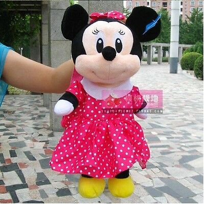 Minnie Mouse Plush Backpack, School Bag, Baby Kids Gift with Free Shipping