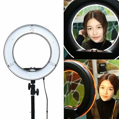 "NEW ES180 13"" 180pcs LED 5500K Dimmable Ring Light Camera Photo"