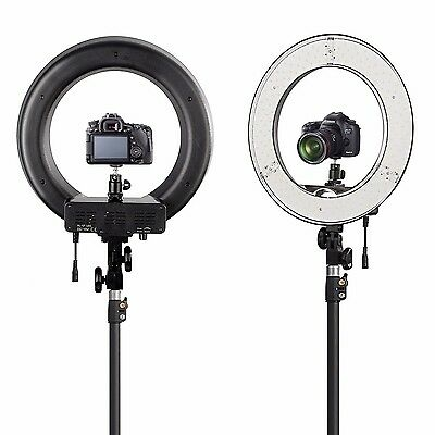 "New ES180 LED 13"" 180pcs 36W 5500K Dimmable Ring Light, Diffuser, Ball Head, Bag"