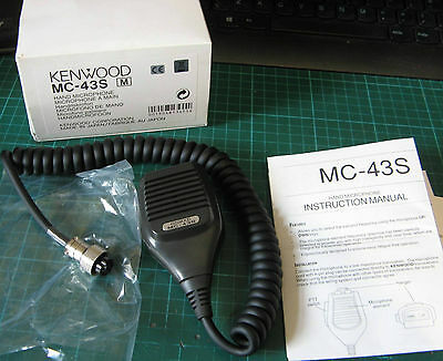 GENUINE Kenwood MC-43S 8 PIN Dynamic Hand Fist Microphone Up/Dn Buttons Amateur