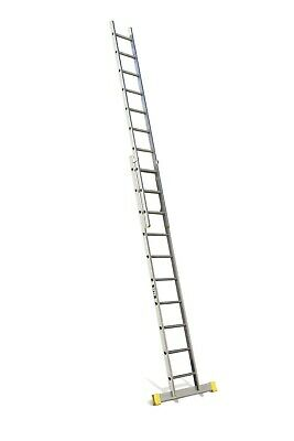 Lyte Trade Aluminium Extension Ladder - Double Section - 2.92m - 4.88m | ELT230