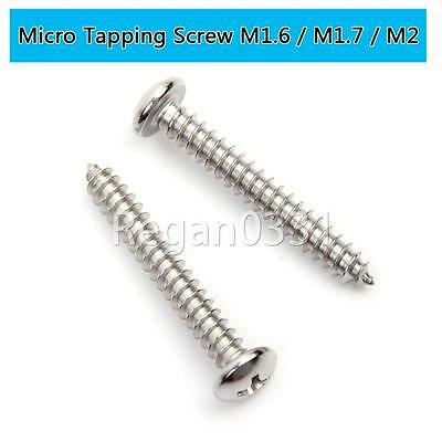 M1.6/M1.7/M2 304 Stainless Steel Pan Head Self Tapping Electronic Micro screws