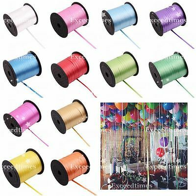 250 500 1000Yds Balloon Colour Curling Ribbon Wedding Party Favours Gifts Crafts