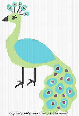 Crochet Patterns - PEACOCK Graph/ chart BABY afghan Pattern *EASY
