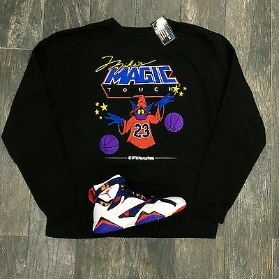 Crewneck to match Jordan Sweater 7 Nothing but Net Sneakers. Magic Touch