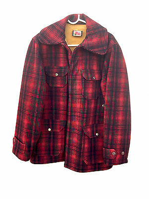 Vintage Woolrich Plaid Coat Made in USA size 40