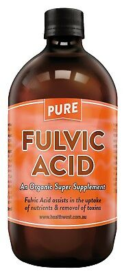 Pure Fulvic Acid Supplement 500ml glass bottle
