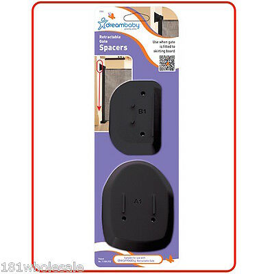 9DREAM BABY Child Pet Safety Retractable Gate Spacers Dreambaby Childproof BLACK
