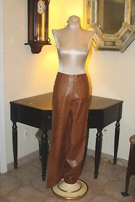 Rare Couture Vintage Isabel Reptile Embossed Fine Soft Leather  Pants / 4
