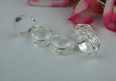 wholesale 10pcs Nice LF 925 silver Plated Cross-wire Toe Rings