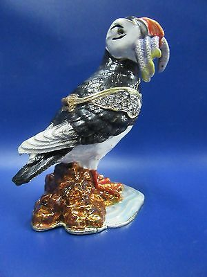 Puffin Jewel Trinket Box Puffin Trinket Box Enamel Encrusted Trinket Box NEW