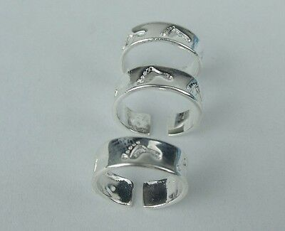 Nice!!Wholesale Lots 10pcs LF 925 silver Plated toe rings II
