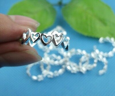 HOT!! wholesale 10pcs LF 925 silver Plated Heart Toe Rings