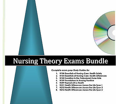 Study Guides 4 Excelsior College Nursing Exams & Audio Review 104-109 209-213