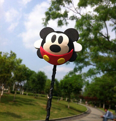 Cute Black Mickey Mouse Antenna Balls Car Aerial Ball Antenna Topper Decor Ball