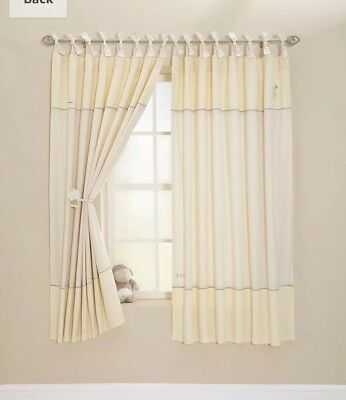 BNWT MAMAS AND PAPAS MURPHY AND ME ZEDDY & PARSNIP CURTAINS 132 x 160 CM LINED