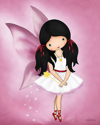 Fairy art for girls room nursery Kids wall artwork Angel Children bedroom decor