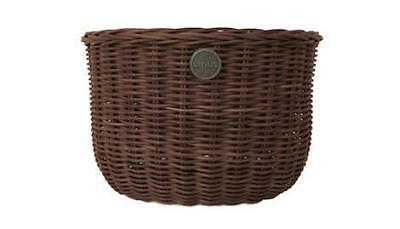 NEW Linus Bike The Oval Basket (fit front) in Brown, Grey, Natural
