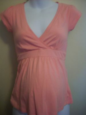 Patch Maternity Tee Peach Small Nwt