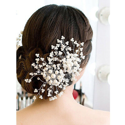 Happy Wedding Bridal Pearl Hairpins Crystal Hair Clip Bridesmaid Crystal Jewelry