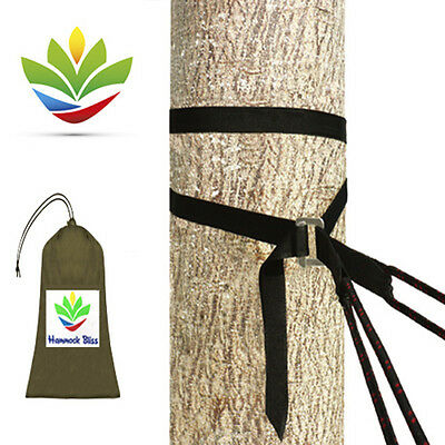 Hammock Bliss Deluxe Cinching Tree Straps - Hang & Adjust Your Hammock With Ease