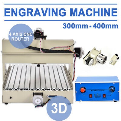4 AXIS 3040 CNC ROUTER ENGRAVER/ENGRAVING DRILLING & MILLING MACHINE 3D CUTTER i