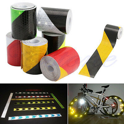 "118"" PVC Safety Reflective Warning Tape Conspicuity Film Sticker Multicolor"