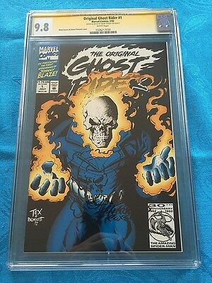 Original Ghost Rider #1 - Marvel - CGC SS 9.8 NM/MT - Sig/Sketch by Mark Texeira