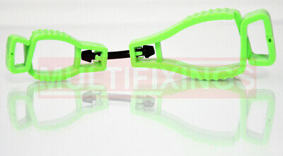 3pcs - Green Glove Safety Clip, Also suitable for Hats, Glasses etc...