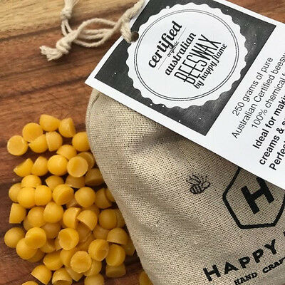 Australian Certified Organic Beeswax pellets,  chemical free 250 grams