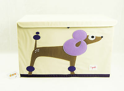 3 Sprouts Toy Chest Purple Poodle - Perfect Organizational Tool For Any Room