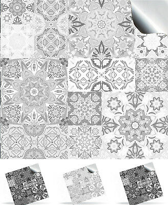 Moroccan Style Bright Pattern Mosaic Tile Sticker Decal Transfer DIY TP15