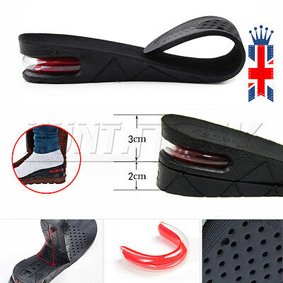 UK Pair Shoe Height Increase Heel Lifts Insoles Taller Inserts Pads Air Cushion