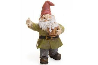 "3.5"" My Fairy Gardens Mini Gnome Figure Pick - ""Cheers"" - Beer Stein Figurine"