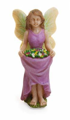 "3"" My Fairy Gardens Mini Figure Pick - Flower Skirt - Miniature Figurine Decor"