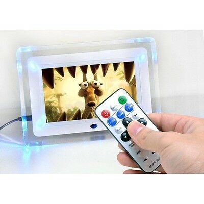 Nd Cornice Digitale 7'' Pollici Nera Usb Foto Video Mp3 Jpg Card Con Telecomando
