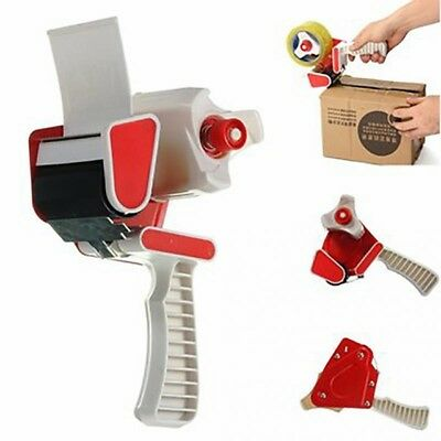 HEAVY DUTY TAPE DISPENSER GUN 2''50MM Removals CLEAR/BROWN/FRAGILE SEALING TAPE