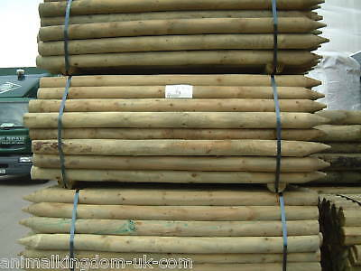 Machined Treated Round Fencing Posts 1.68mt x 88mm