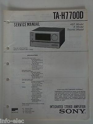 Schema SONY - Service Manual Integrated Stereo Amplifier TA-H7700D TAH7700D